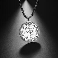 Sigil of 7 Archangels Michael Raphael Amulet Pendant Necklace Wiccan Jewelry