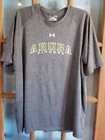 Mens XL Under Armour Heat Gear Loose Gray T-Shirt Aruba Souvenir