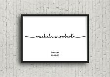 Personalised Valentines Engagement Print! Engagement Gift, Valentines Gift!
