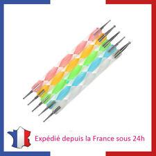 Pochette de 5 Outils Dotting Tools pour Nail Art Manucure Dotting Pen