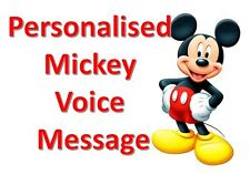 Personalised Mickey Mouse voice message - Disney Reveal / Birthday / Wedding
