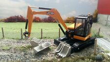 Britains 1/32 Scale JCB Midi Excavator 86C-1  Fitted with quick hitch & 4 Bucket