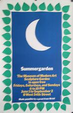 "SUMMERGARDEN ORIGINAL POSTER MOMA NEW YORK SCULPTURE GARDEN 46"" X 30"""