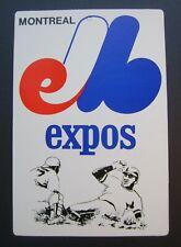 1973 Montreal Expos Fleer Baseball Big Sign MLB