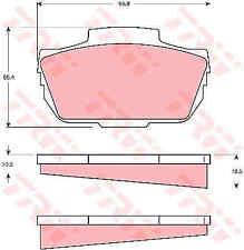 TRW Front Brake Pads Set GDB337 - BRAND NEW - GENUINE - 5 YEAR WARRANTY