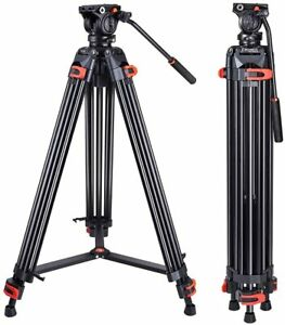 "72"" Heavy Duty Tripod Video Aluminium Fluid Head for Canon Nikon DSLR Camcorder"