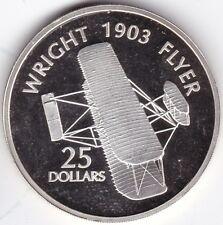 2003 Solomon Island 1903 Wright Flyer 25 DOLLARI *** Da collezione *** silver *** PROVA **