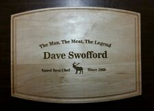 Personalized Maple Cutting board elk the man the meat the legend best chef