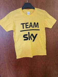 Team SKY Yellow Young Supporters T-Shirt (G. Thomas, C Froome) *Size M Youth*