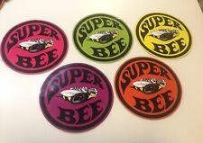 """Set Of 5 Super Bee Challenger Vinyl Bumper Stickers 3M 6"""" Dodge Hot Rod Decals"""