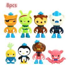 The Octonauts Barnacles Captain Cartoon Action Figures Doctor Kids Toys 8Pcs
