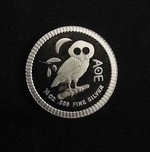 1 Dollar , Eule von Athen , 1/4 Oz. Silbermünze Niue - 2019 , 999/1000