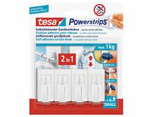 tesa Powerstrips Vario-Gardinenhaken für Fenster inkl. 6 Strips und 4 Haken
