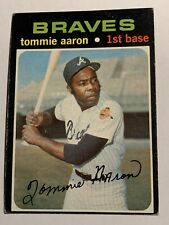 1971 TOPPS TOMMIE AARON ATLANTA BRAVES BASEBALL CARD HIGH NUMBER 717