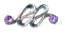 Amethyst Silver Brooch/Pin Vintage Fine Jewellery