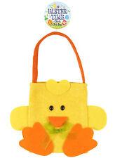 Easter Chick Felt Bag - 18cm x 14cm - Toy Loot/Party Bag Children Egg Hunt