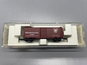 MTL Z-SCALE 40' STANDARD BOX CAR 14106 EARLY MICRO-TRAINS PENNSYLVANIA  LNIB