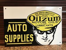 Oilzum Oil vintage style gasoline auto Supplies Gas Metal sign