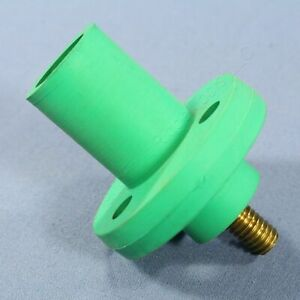 Leviton Green 15 Series Threaded Stud Cam Plug Receptacle 125A 600V Bulk 15R21-G