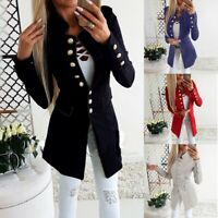 Chic Women Work OL Long Sleeve Slim Fit Casual Blazer Suit Jacket Coat Outwear