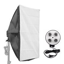 Photo Video Studio Lighting 50*70cm Softbox Light + 4-Socket E27 Lamp Holder Kit