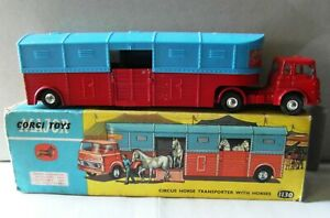 Corgi 1130 Chipperfields Circus Horse Transporter, Original Box & Inner Packing