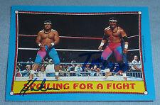 The Islanders Tonga Kid Tama & Haku Signed 1987 Topps WWF Card #28 WWE Autograph