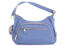 $70 Travelon Anti-Theft and RFID ID Pouch Blue Purse With Long Strap Included