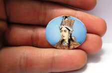 VINTAGE INDIAN FINE MICRO MINIATURE PAINTING PORTRAIT OF MUGHAL QUEEN RARE A4