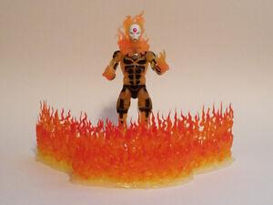 Large Flame stand props for Action Figure Displays - Marvel Legends, Mezco, DCUC