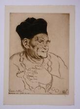 Louis LEGRAND (1863-1951) Le Bedeau du Mée 1911 Gravure Eau-forte 64/70