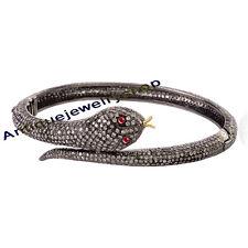 Diamond Ruby Snake Style Wedding Bracelet Repro Handmade 7.52ct Antique Rose Cut