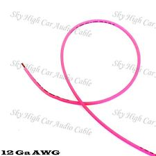 50 ft 12 Gauge AWG Primary / Remote Wire PINK Sky High Car Audio Lead Ga Feet