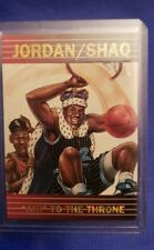 Michael Jordan Shaquille O'Neal Air to the Throne Promo Card Chicago Bulls #40