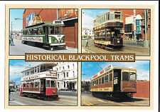 Historical Blackpool Trams, Unposted, Multiview of Bolton 66,Blackpool 167 & 40