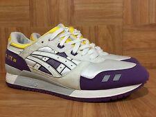RARE🔥 Asics Gel-Lyte III 3 L.A Lakers White Purple Gold Sz 12 H305N Men's Shoes