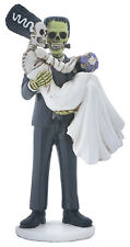 FRANKENSTEIN & BRIDE FIGURINE SKELETON HALLOWEEN WEDDING CAKE TOPPER.COOL! 8581S