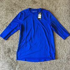 Nwt$39 Under Armour Heat Gear Fitted Mens Shirt Blue Running Training Sz L