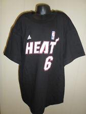 Adidas NBA Youth Size MIami Heat Lebron James Name & Number Tee Shirt NWT $22 S