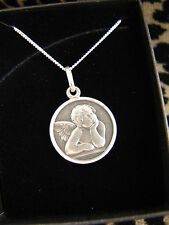 """SILVER 925 GUARDIAN ANGEL NECKLACE PENDANT LADIES GIRLS BOYS 14"""" 16 18 CHAIN"""