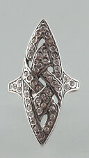 925er anillo de plata con piedras de Swarovski Talla 49 9901192