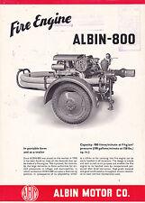 VINTAGE CATALOG #2748 -  1957 ALBIN MOTOR CO FIRE ENGINE ALBIN-800