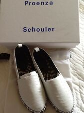 Proenza Schouler Python Peau Blanc Espadrilles Chaussures 37 EU 4 UK 4.5 Neuf £ 650