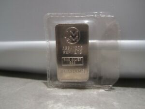 Vintage 10 Grams JOHNSON MATTHEY & MALLORY .999 FINE Silver bar ~ Sealed