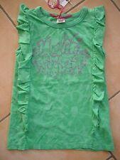 (32) Leichtes Nolita Pocket Girls Shirt ohne Arm mit Logo Druck & Volants gr.104