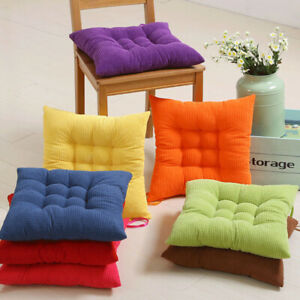 Tie On Seat Pads Dining Patio Home Kitchen Office Thicken Chair Cushions 40*40cm