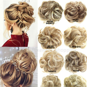 LARGE Curly Messy Bun Hair Piece Scrunchie Thick Hair Updo Extension Accessories