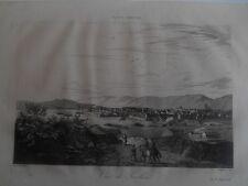 Toulon - Gravure sur acier par Cauvin milieu XIXè .