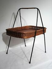 mid century design Danish 60's Designer Teakholz Ablage Tisch Korb Tablett ~60er