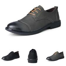 Men Low Top Business Leisure Shoes Round Toe Work Office Lace up Walking 38-44 L